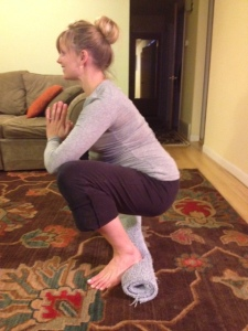 Aim to hold this position for 2-3 deep breaths with each repetition.